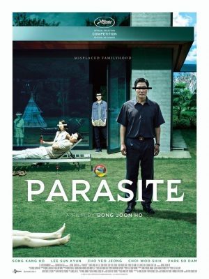Parasite poster, directed by Bong Joon-ho